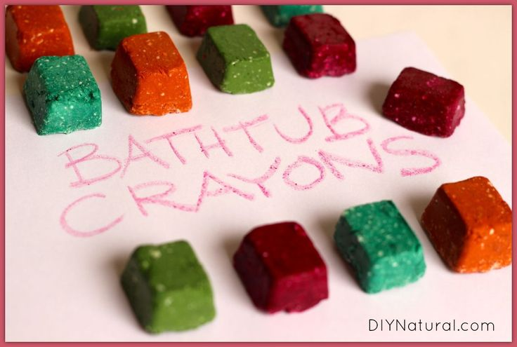 Homemade Bath Crayons - For A Fun and Natural Bath Time
