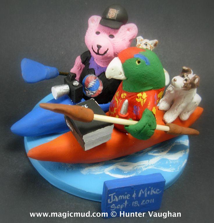 "www.magicmud.com 1 800 231 9814 $250 mailto:magicmud@m... blog.magicmud.com twitter.com/... www.facebook.com/... $250#kayak#jerrybear#parrot#yacht#canoe#boat#powerboat#raft#""fishing_boat""#motor_boat#sailboat#boating #wedding #cake #toppers #custom #personalized #Groom #bride #anniversary #birthday#weddingcaketoppers#cake toppers#figurine#gift#wedding cake toppers"