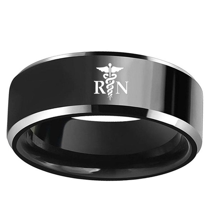 RN Black Ring with Shiny Edges - What a nice gift for YOU or a close friend or relative!