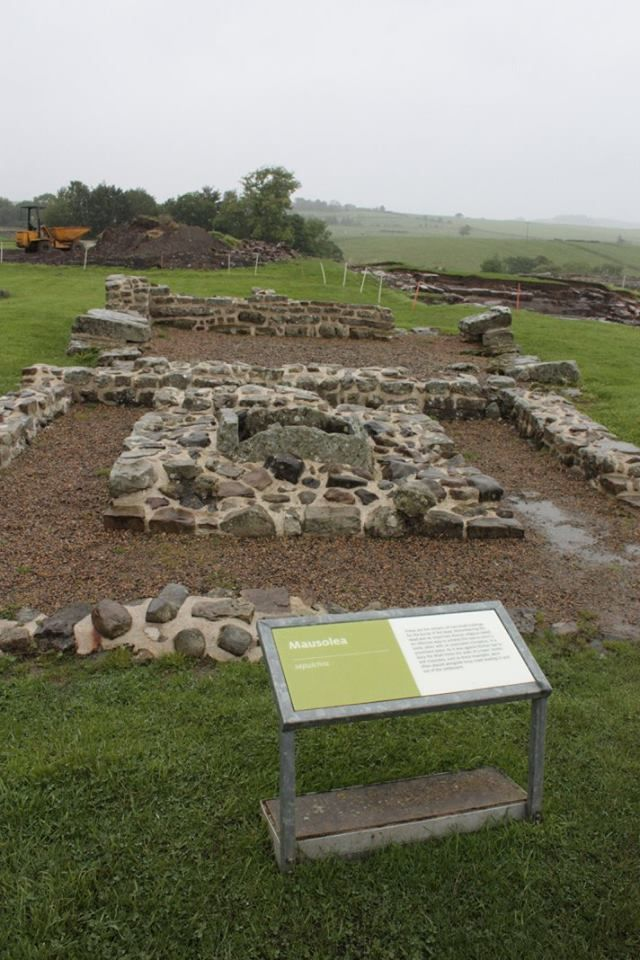 Mausolea at Roman Vindolanda, near Hexham, Northumberland
