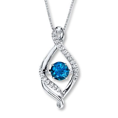 Said to bring joy to those who wear it, a topaz necklace is the perfect gift for someone you love this holiday season.