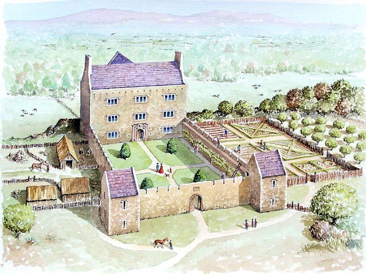 The impressive courtyard buildings are still intact for Castle house plans with courtyard