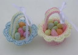crochet easter basket - Google Search