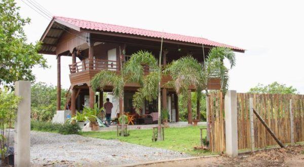 บ านไม ส กใต ถ นส ง โปร งโล งร บลมเย นสบาย ผสมบรรยากาศแบบบ านสวนตามชนบท Naibann ข อม ลซ อขายบ าน บ านเด ยว คอนโด ท Casas Cabana Ao Ar Livre Casa De Sitio