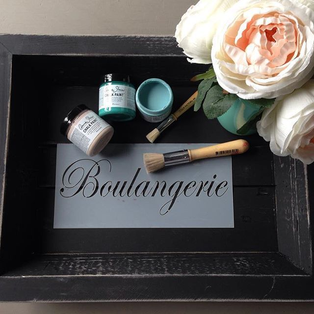 Come take our Stenciled Tray Workshop on Sunday!   Go to our website or call on to register. 604-532-5931    #createabeautifullife #workshops #anniesloan #chalkpaint #stencil #painteverything #breakfastinbed