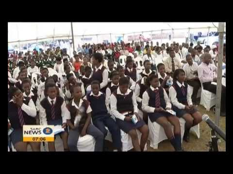 SABC 2 NEWS about the event of the hand over of tablets.