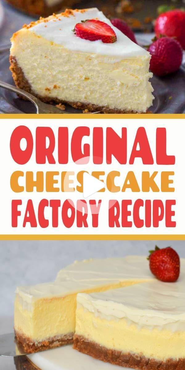 Cheesecake Factory Original Cheesecake Copycat Recept Cheesecake Cheesecake In 2020 Copycat Recipes Cheesecake Factory Cheesecake Desserts Recipes Cheesecake Recipes