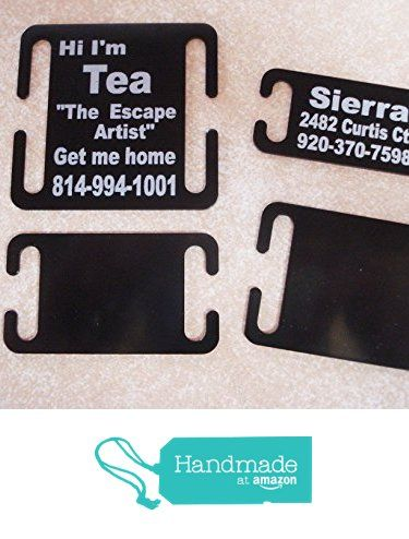 Pet ID Tag Custom Laser Engraved Dog Tags Fit Collars & Harnesses Easy to Read! from Moore Laser Engraving https://www.amazon.com/dp/B01MRFXE5C/ref=hnd_sw_r_pi_dp_48LXzbJZGXX6W #handmadeatamazon