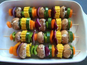 Vegane Grillspieße