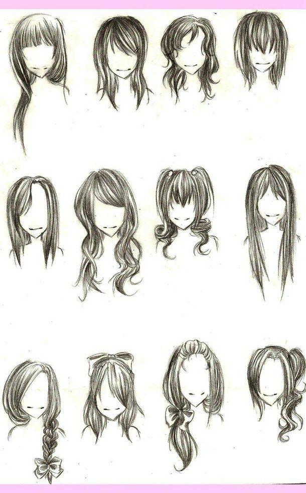 Weibliche Frisur Illustration Neue Frisuren Haare Zeichnen Anime Haare Zeichnungen Von Haaren