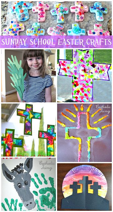 Sunday School Easter Crafts for Kids to Make (Religious) | CraftyMorning.com