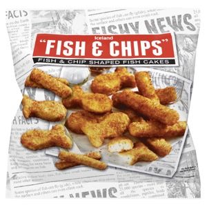 Iceland Fish & Chips Shaped Fish Cakes 500g | Fish Fingers, Fish Cakes & Scampi | Frozen Fish & Seafood | Frozen | Iceland Groceries
