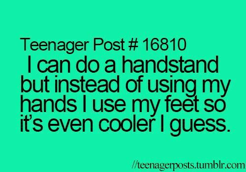 ~Teen Post~ ~Handstand~ ~Feet~