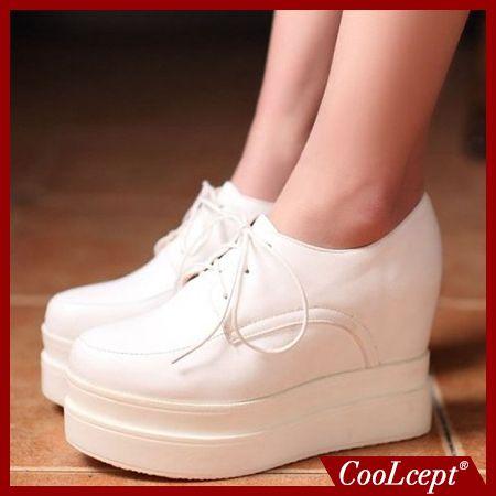 Женщины высокой платформе обувь лакированная кожа звезды леди вскользь клин обувь туфли на каблуках размер 34-39 P16878