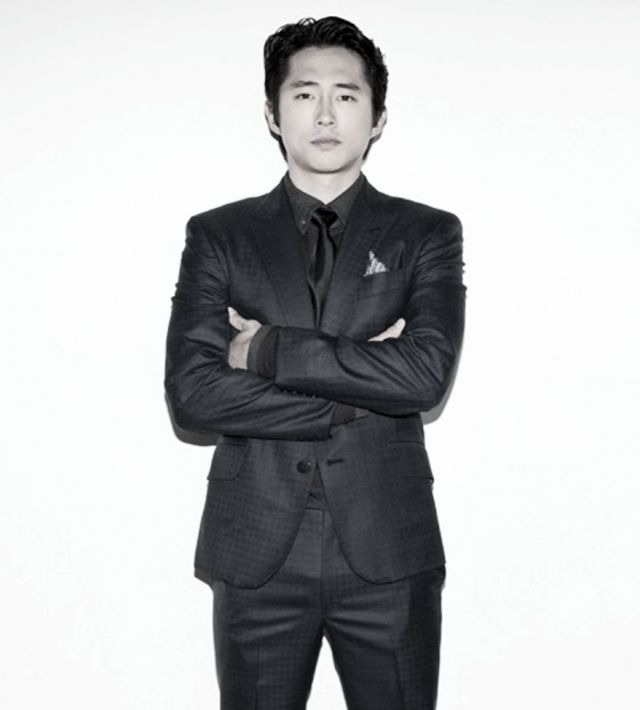 Steven Yeun.. All black everything