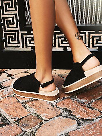 Hayden Flatform Sandal | Flatform sandals with perforated suede uppers, featuring adjustable back straps and textured rubber soles.  *By NAYA