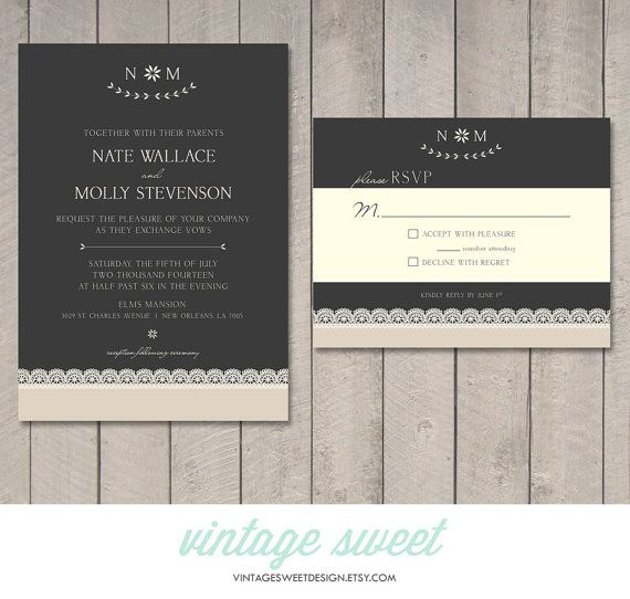 38 best wedding invitations images on pinterest vintage candy