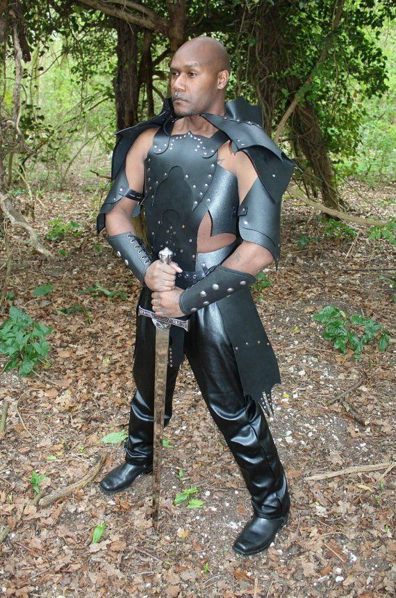 Leather medieval Dragon theatrical celtic Armor LARP SCA armour Halloween viking
