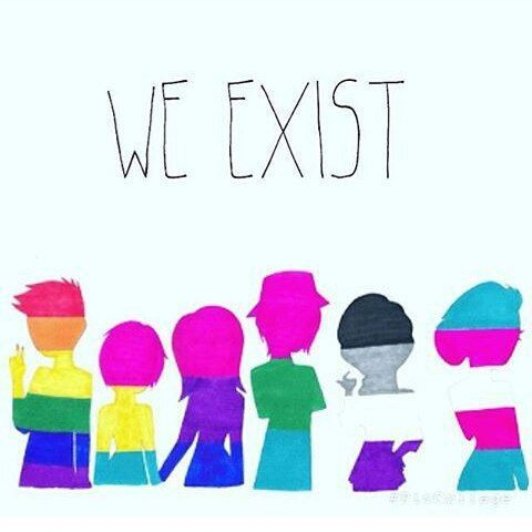 No matter what you think, We exist! For gay pride, lgbt pride, lesbian pride
