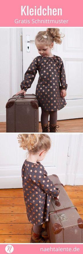 Mädchenkleid Freebook mit Raglan-Ärmeln & Nähanleitung