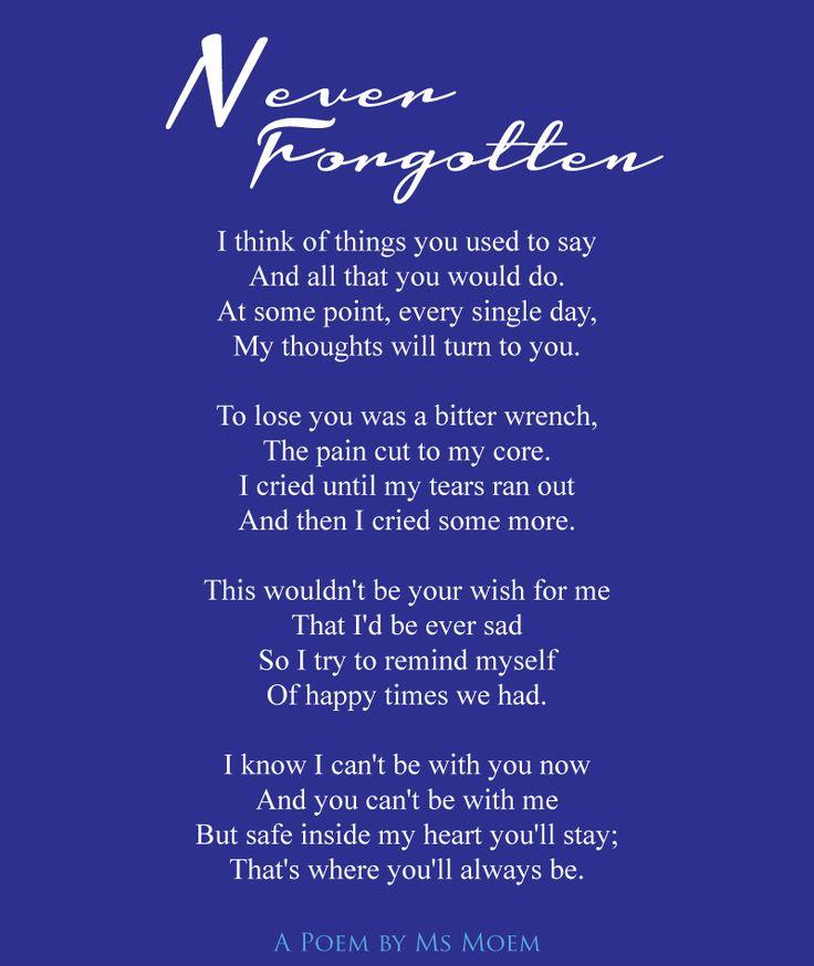 memory poem for Mum & Grandma - never forgotten ~ poem