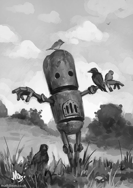 Harvest sketch by Matt Dixon, I love the character in these robots!