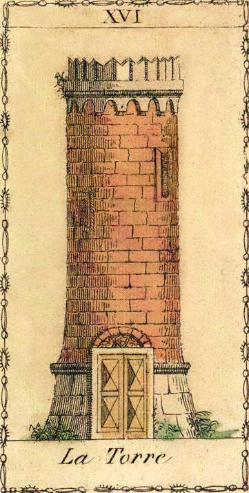 The Tower - Ancient Tarot of Lombardy