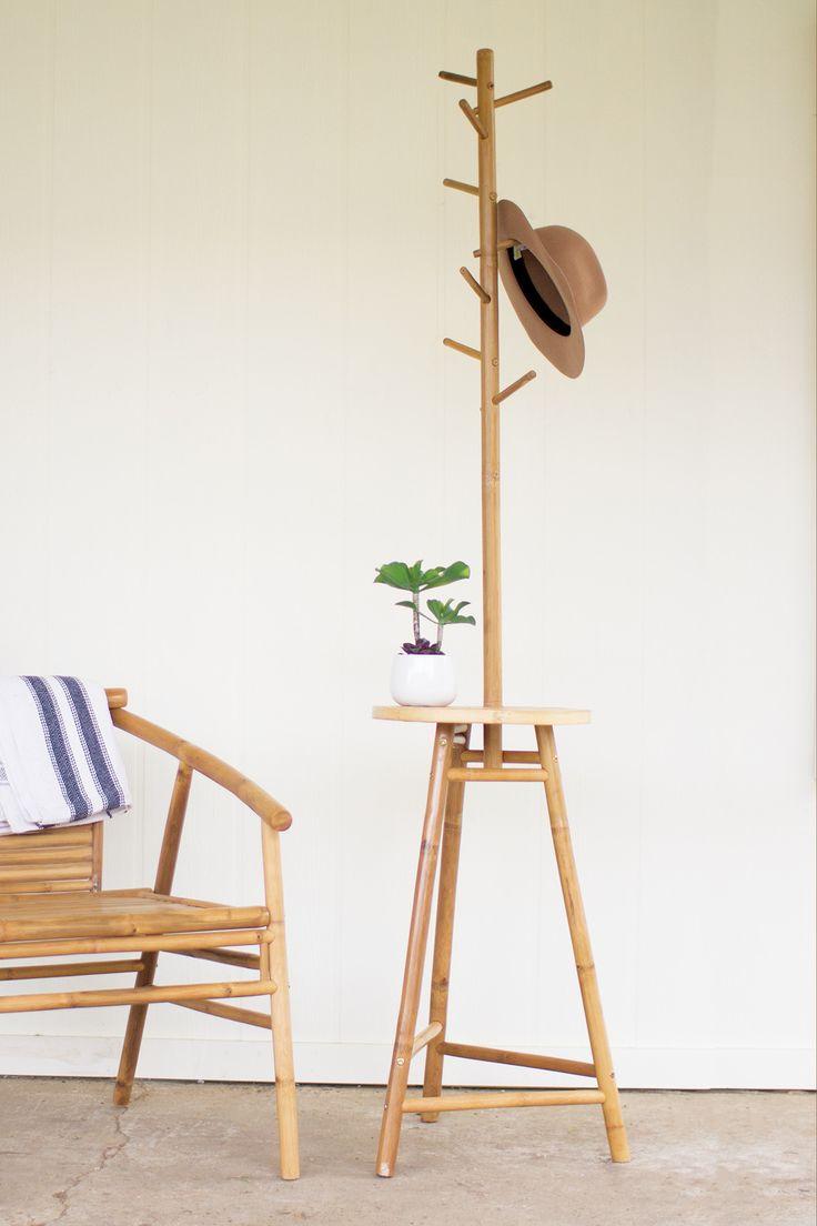 Kalalou Bamboo Coat Rack Table