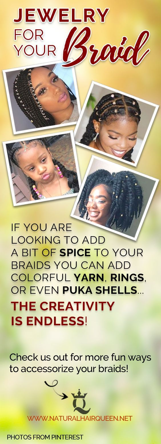 different ways to accessorize your box braids natural hair care