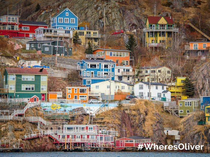 """For over 120 years, residents of """"The Battery"""" in St.John's have lived life on the edge. It's a stunningly beautiful place where """"tiny colourful wooden homes cling valiantly to cliff-sides ravaged by ocean waves."""" Oliver wants to know more about this vibrant community. Find out more at newfoundlandlabrador.com/top-destinations/st-johns"""
