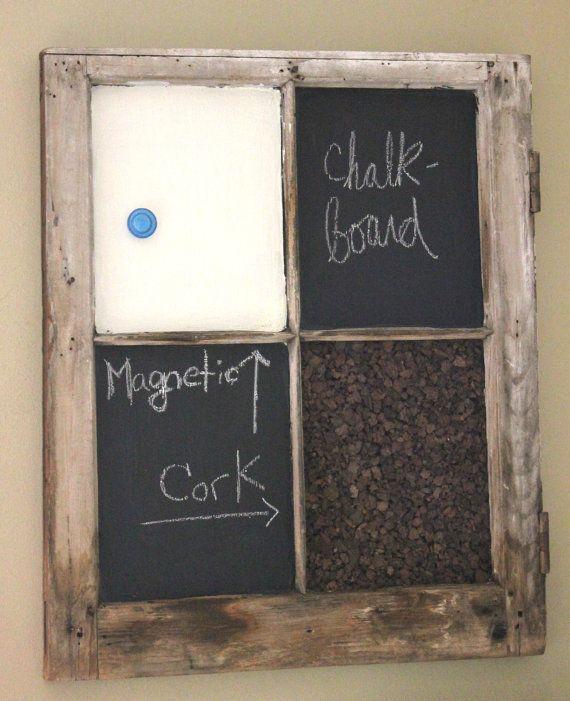 Chalkboard Corkboard Magnet Window Memo Board Craft Ideas Pinterest Diy And Windows