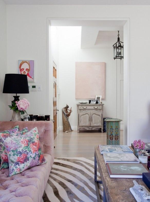 Girly Living Room Of Camilla Freeman