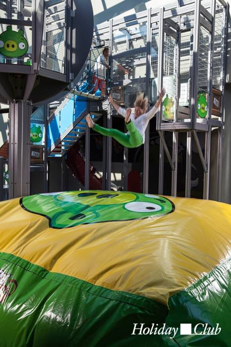BagJump at the Angry Birds Activity Park in Saimaa, Finland