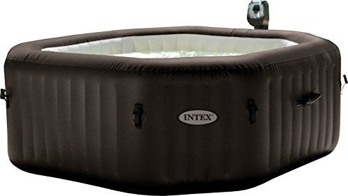 INTEX Pure Spa octogonal gonflable a jets 6 Places 216x71cm – Marron