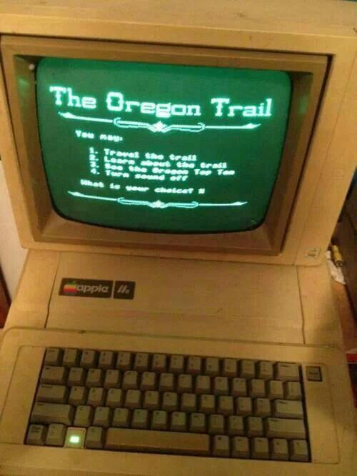 The Oregon Trail game!
