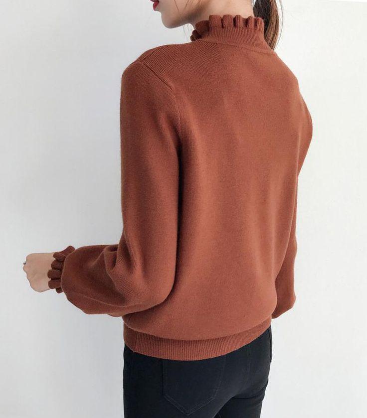 BUYMA.com ◆akatsuki-ko◆ ハイネック ボリューム袖 ニットトップス 6色 31882277