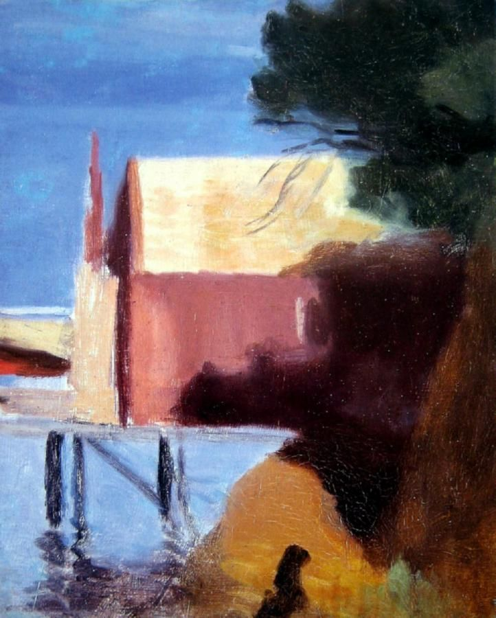 Clarice Marjoribanks Beckett, Boatsheds, Beaumaris c. 1930