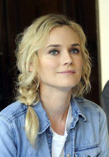 Messy Side Braid - Diane Kruger #hair #hairstyle #beauty