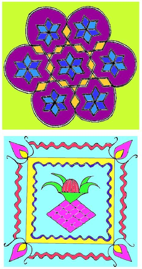 Welcome students and bring some colour to your classroom with these rangoli patterns.