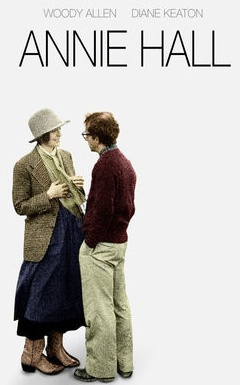 'Annie Hall', 1977 - Directed by Woody Allen, starring the incomparable Diane Keaton. This was Allen's, romantic-comedy opus.