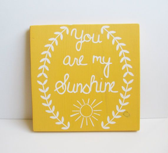 11 x 11 You are my sunshine sign- yellow, nursery, home decor on Etsy, $30.00 #fadsbagabed