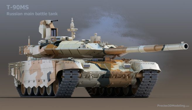 T-90MS the new improved version of the best Russian MBT