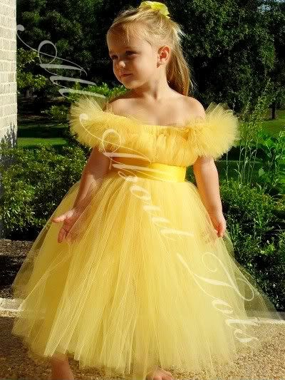 Belle Tutu Dress Costume Flower Girl Dress