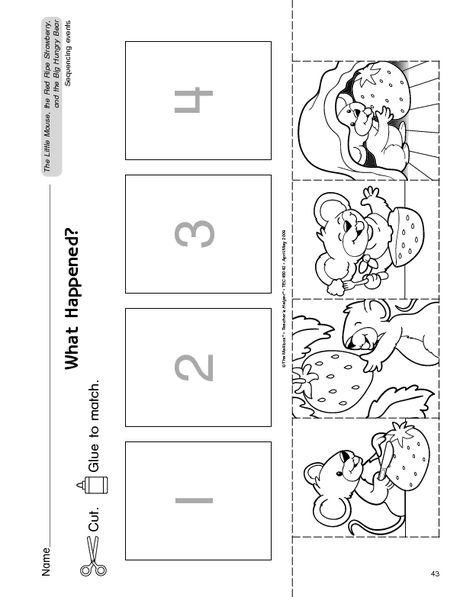 free printable sequence page
