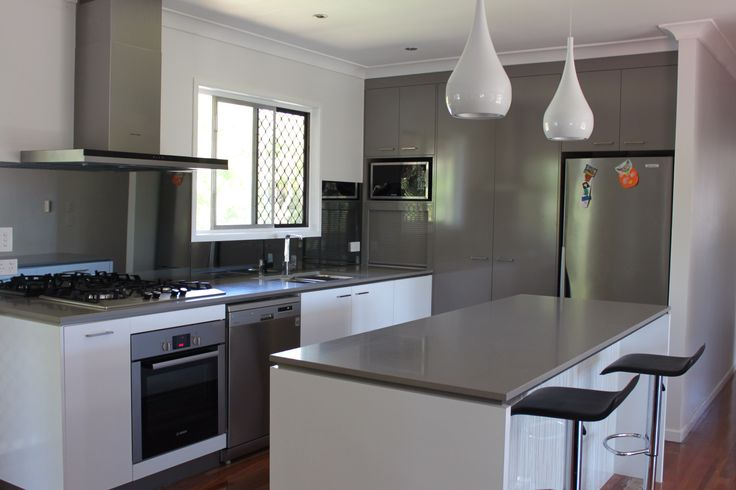 Modern kitchen design. Made for utilisation of space