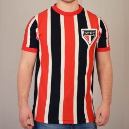 Sao Paulo 1970 Retro Football Shirt Sao Paulo 1970 Retro Football Shirt. Sao Paulos famous tricolor shirt worn by Chicão and Serginho. http://www.MightGet.com/may-2017-1/sao-paulo-1970-retro-football-shirt.asp