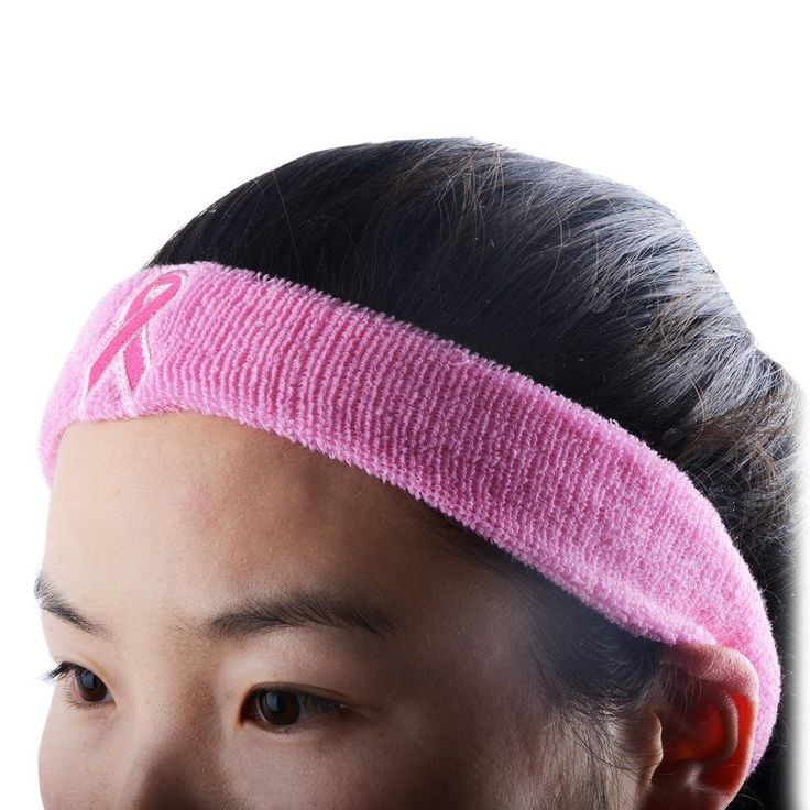 COOLOMG Headband Rosa Breast Cancer Awareness Ribbon Symbol Stirnband Elastisch Atmungsaktive Rosa: Amazon.de: Sport & Freizeit