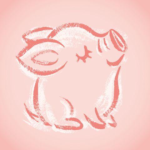 Happy pig by Toru Sanogawa, via Behance