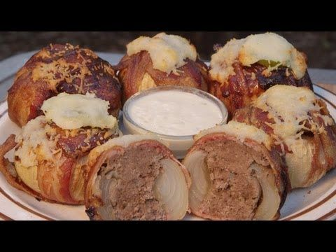 ▶ Bacon Meatball Stuffed Onions by the BBQ Pit Boys - YouTube