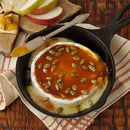 Pumpkin Butter Baked Brie with Maple Pumpkin Butter